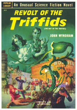 Revold of the Trifids - 11 x 17 Retro Book Cover Poster