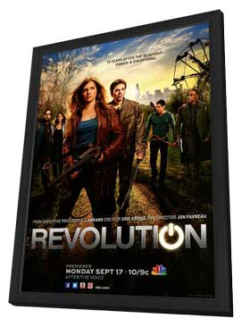 Revolution (TV) - 11 x 17 TV Poster - Style A - in Deluxe Wood Frame
