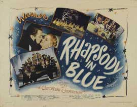 Rhapsody in Blue - 22 x 28 Movie Poster - Half Sheet Style A