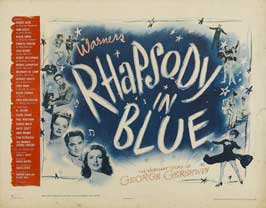 Rhapsody in Blue - 22 x 28 Movie Poster - Half Sheet Style B