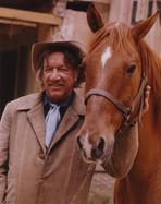 Richard Boone - Richard Boone Posed with Horse