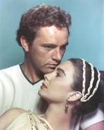 Richard Burton - Richard Burton Blue Background Couple Portrait