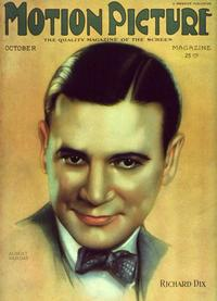 Richard Dix - 11 x 17 Motion Picture Magazine Cover 1930's Style A