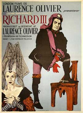 Richard III - 27 x 40 Movie Poster - Danish Style A