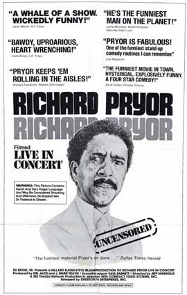 Richard Pryor in Concert - 11 x 17 Movie Poster - Style A