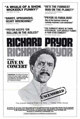 Richard Pryor in Concert - 27 x 40 Movie Poster - Style A