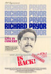 Richard Pryor in Concert - 27 x 40 Movie Poster - Style B