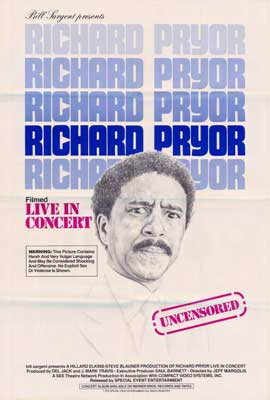Richard Pryor in Concert - 27 x 40 Movie Poster - Style C