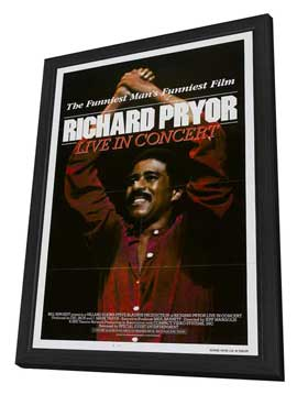 Richard Pryor: Live in Concert - 27 x 40 Movie Poster - Style A - in Deluxe Wood Frame