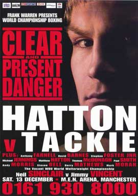 Ricky Hatton vs Ben Tackie - 11 x 17 Boxing Promo Poster - Style A
