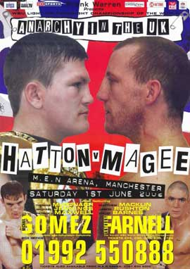 Ricky Hatton vs. Eamonn Magee - 11 x 17 Boxing Promo Poster - Style A
