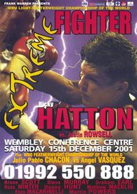 Ricky Hatton vs Justin Rowsell - 11 x 17 Boxing Promo Poster - Style A