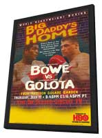 Riddick Bowe vs. Andrew Golota - 11 x 17 Boxing Promo Poster - Style A - in Deluxe Wood Frame