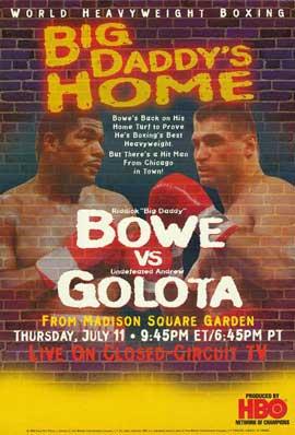 Riddick Bowe vs. Andrew Golota - 11 x 17 Boxing Promo Poster - Style A