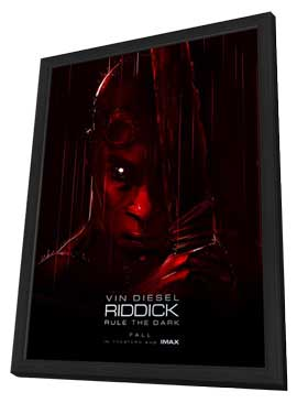 Riddick - 27 x 40 Movie Poster - Style A - in Deluxe Wood Frame