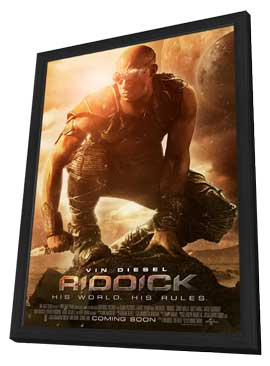 Riddick - 11 x 17 Movie Poster - Style B - in Deluxe Wood Frame