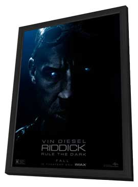 Riddick - 27 x 40 Movie Poster - Style C - in Deluxe Wood Frame
