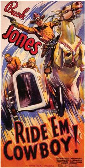 Ride 'Em Cowboy - 11 x 17 Movie Poster - Style B