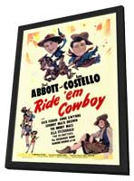 Ride 'Em Cowboy - 27 x 40 Movie Poster - Style A - in Deluxe Wood Frame