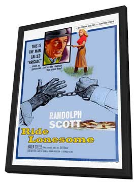 Ride Lonesome - 11 x 17 Movie Poster - Style C - in Deluxe Wood Frame
