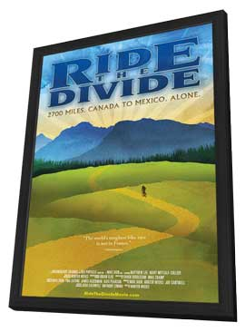 Ride the Divide - 11 x 17 Movie Poster - Style A - in Deluxe Wood Frame