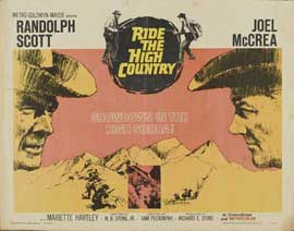 Ride the High Country - 22 x 28 Movie Poster - Half Sheet Style A