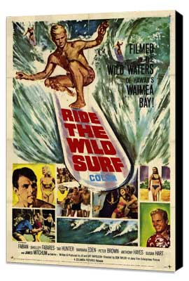 Ride the Wild Surf - 11 x 17 Movie Poster - Style A - Museum Wrapped Canvas