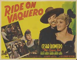 Ride, Vaquero! - 22 x 28 Movie Poster - Half Sheet Style A