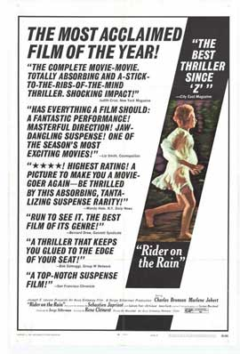 Rider on the Rain - 11 x 17 Movie Poster - Style A