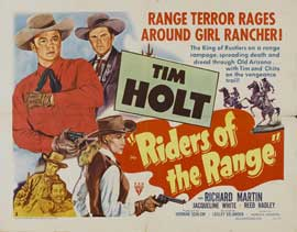 Riders of the Range - 22 x 28 Movie Poster - Half Sheet Style A