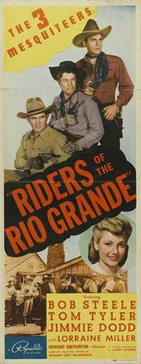 Riders of the Rio Grande - 14 x 36 Movie Poster - Insert Style A