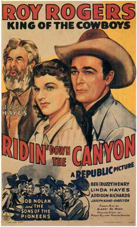 Ridin' Down the Canyon - 11 x 17 Movie Poster - Style A