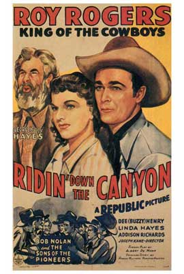 Ridin' Down the Canyon - 27 x 40 Movie Poster - Style A