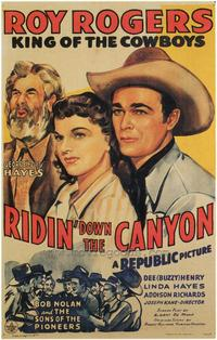 Ridin' Down the Canyon - 27 x 40 Movie Poster - Style B