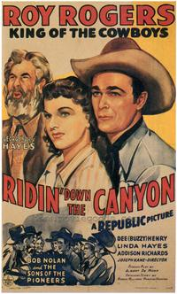 Ridin' Down the Canyon - 43 x 62 Movie Poster - Bus Shelter Style A