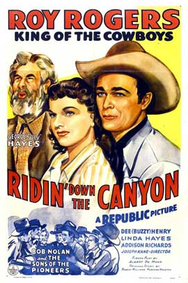 Ridin' Down the Canyon - 11 x 17 Movie Poster - Style C