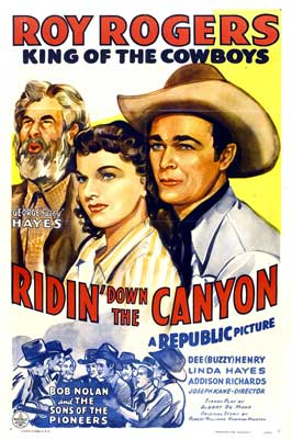 Ridin' Down the Canyon - 27 x 40 Movie Poster - Style C