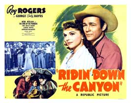Ridin' Down the Canyon - 22 x 28 Movie Poster - Half Sheet Style A