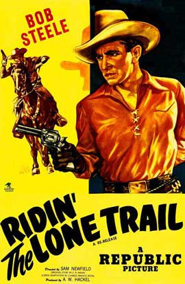 Ridin' the Lone Trail - 11 x 17 Movie Poster - Style A