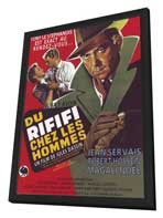 Rififi - 27 x 40 Movie Poster - French Style A - in Deluxe Wood Frame