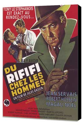 Rififi - 27 x 40 Movie Poster - French Style A - Museum Wrapped Canvas