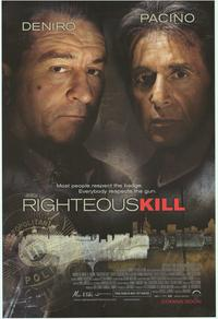 Righteous Kill - 43 x 62 Movie Poster - Bus Shelter Style B
