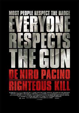 Righteous Kill - 11 x 17 Movie Poster - Style F