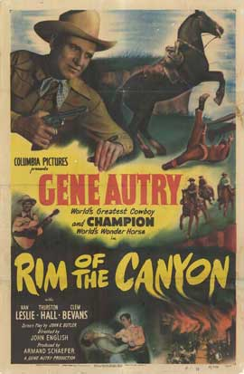 Rim of the Canyon - 27 x 40 Movie Poster - Style B