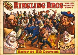 Ringling Bros - Army of 50 Clowns - 11 x 14 Movie Poster - Style A