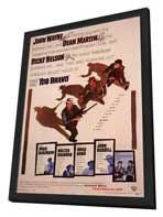 Rio Bravo - 11 x 17 Movie Poster - Style B - in Deluxe Wood Frame