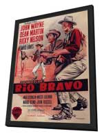 Rio Bravo - 11 x 17 Movie Poster - Style C - in Deluxe Wood Frame