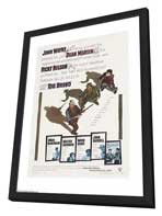 Rio Bravo - 27 x 40 Movie Poster - Style B - in Deluxe Wood Frame