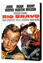 Rio Bravo - 27 x 40 Movie Poster - Style A - Museum Wrapped Canvas