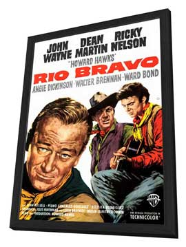 Rio Bravo - 27 x 40 Movie Poster - Style A - in Deluxe Wood Frame